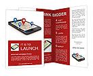 GPS coordinates into your phone waypoints Brochure Templates