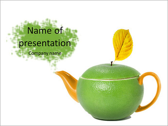 Green tea as a way to health PowerPoint Template