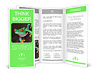 Green frog with red eyes Brochure Templates