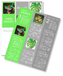 Green frog with red eyes Newsletter Template