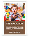 Funny child in a playroom Ad Templates