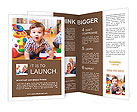 Funny child in a playroom Brochure Templates