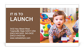 Funny child in a playroom business card template design id funny child in a playroom business card template friedricerecipe Image collections