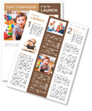 Funny child in a playroom Newsletter Template