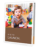 Funny child in a playroom Presentation Folder