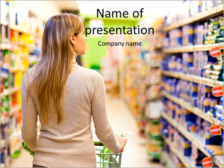 Woman with a trolley at a supermarket powerpoint template woman with a trolley at a supermarket powerpoint template toneelgroepblik Choice Image