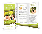 Happy family lying on the grass in the park Brochure Template
