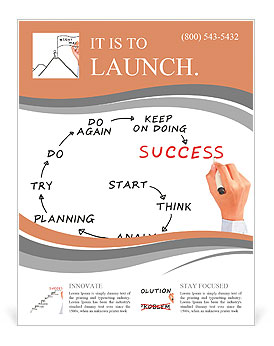 Man drawing success meaning flyer template design id 0000008778 man drawing success meaning flyer template maxwellsz
