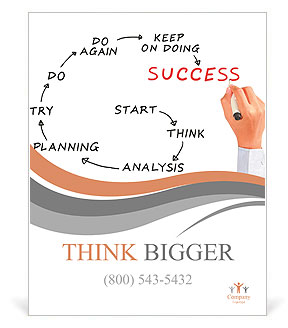 man drawing success meaning poster template design id 0000008778