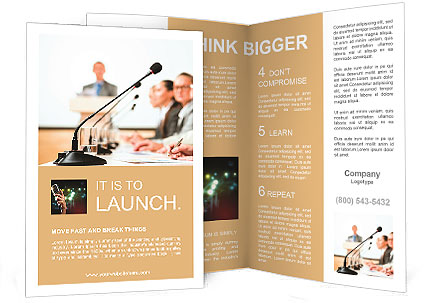 Conference And Workshop Brochure Template  Design Id