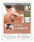 Dermatologist examines a mole of male patient Flyer Templates