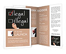 Business hand writing red check mark for legal selection Brochure Templates