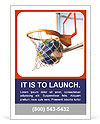 Planet in the basketball ring as a symbol of success Ad Template
