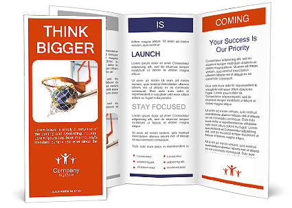 Planet In The Basketball Ring As A Symbol Of Success Brochure