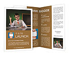 An eight-year boy wants to be like a businessman Brochure Templates