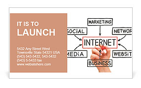 The Internet as a presentation of the world Business Card Template