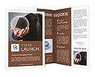 Businessman Hand holding a Glass Ball Brochure Templates