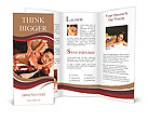 Masseur doing massage on woman body in the spa salon Brochure Templates