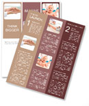 Tenderness and trust hand in the cookie Newsletter Template