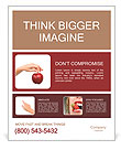Female hand holding a red apple Poster Template