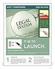 Legal System Flyer Templates