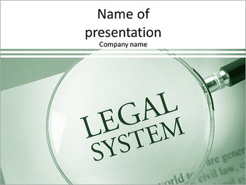 Legal System PowerPoint Template