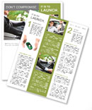 A man in a suit riding and driving Newsletter Templates