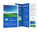 Green field and blue sky Brochure Templates