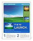 Green field and blue sky Flyer Templates