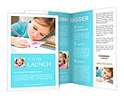 A child learns to write Brochure Templates