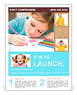 A child learns to write Flyer Templates