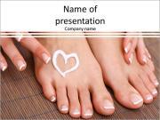 Beautiful female legs PowerPoint Templates