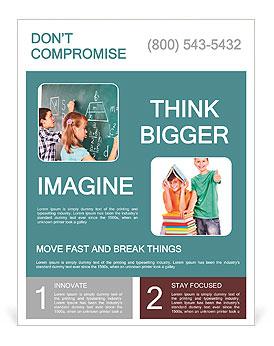 Teens Meet At The Blackboard Flyer Template Design ID - Meet and greet flyer template