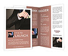 Business man hiding money in pocket Brochure Templates