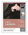 Business man hiding money in pocket Poster Template
