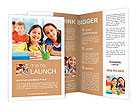 Happy children smiling Brochure Templates