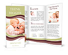 Happy cheerful family Brochure Templates
