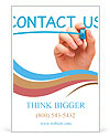 Hand writing Contact Us Ad Templates