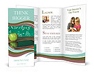 Digital tablet and apple on the desk Brochure Templates
