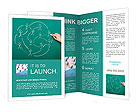 Drawing social network Brochure Templates