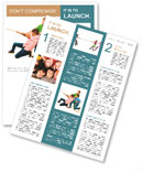 Three guys playing tug of war Newsletter Template