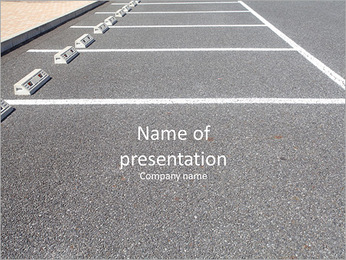 Free parking PowerPoint Template