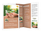 Father and Son give life to plants Brochure Templates