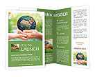 The past and the future of the planet in the hands of father and child Brochure Templates
