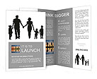 A shadow Large family on a white background Brochure Templates