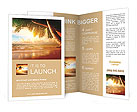 Sunrise on Caribbean beach very nice view Brochure Templates