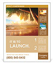Sunrise on Caribbean beach very nice view Poster Template