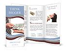 Human hands exchanging money Brochure Templates