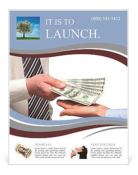 Human Hands Exchanging Money Flyer Template Design ID - Money flyer template