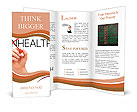 Hand turning the word Unhealthy into Healthy with red marker Brochure Templates